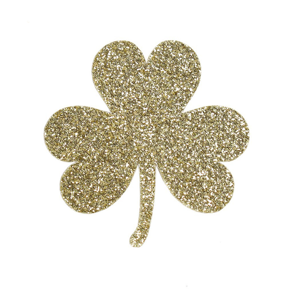 GOLD GREEN SHAMROCK ST PATRICK/'S PADDY/'S DAY SCRUNCHIE HAIR BOBBLE LADIES GIRLS