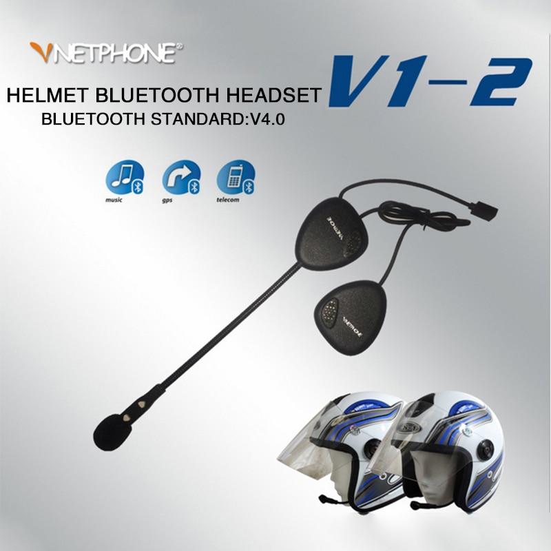 Ventphone V1-2 Bluetooth 4.0 Motorcycle Helmet Intercom Headset  BT Wireless Handsfree Speakers Earphone Talk Listen Music