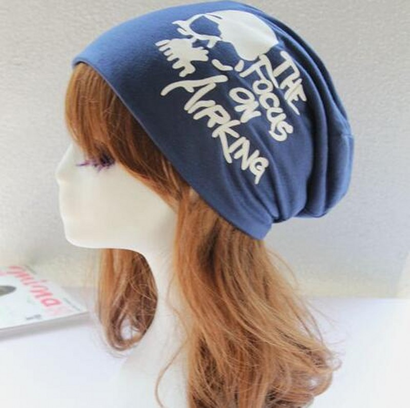 2016 New Fashion Spring Autumn Winter Women Hat Scarf Letters Hip-Hop Women Beanies Hat Cotton Hedging Cap Men Free Shipping skullies 2017 new arrival hedging hat female autumn and winter days wool cap influx of men and women scarf scarf hat 1866729