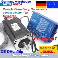 1 Set Nema34 Closed Loop 12N.m Servo motor Stepper Motor 6A 154mm & HSS86 Hybrid Step servo Driver 8A CNC Controller Kit