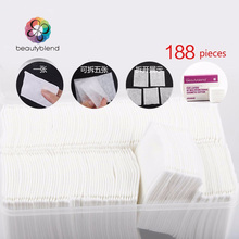 Beautyblend Brand R-8033 188 Pcs Plastic Box Package Wipe Pads Nail Polish Cleaning Pads Cosmetic Cotton Makeup Remover Cleaner(China)
