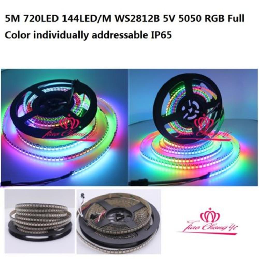 5 M 720LED 144LED M WS2812B 5 V 5050 RGB polychrome individuellement adressable IP655 M 720LED 144LED M WS2812B 5 V 5050 RGB polychrome individuellement adressable IP65