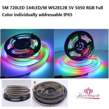 5M 720LED 144LED M WS2812B 5V 5050 RGB Full Color individually addressable IP65