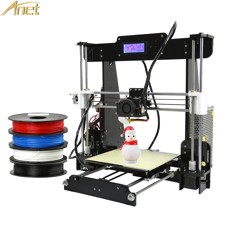 Anet A6 A8 3d printer Easy Assemble High precision extruder Reprap prusa i3 imprimante 3d printers DIY Kit with 10m PLA Filament reprap prusa i3 anet a8 3d printer auto leveling extruder assembly kit with silicone sock all metal extruder carriage
