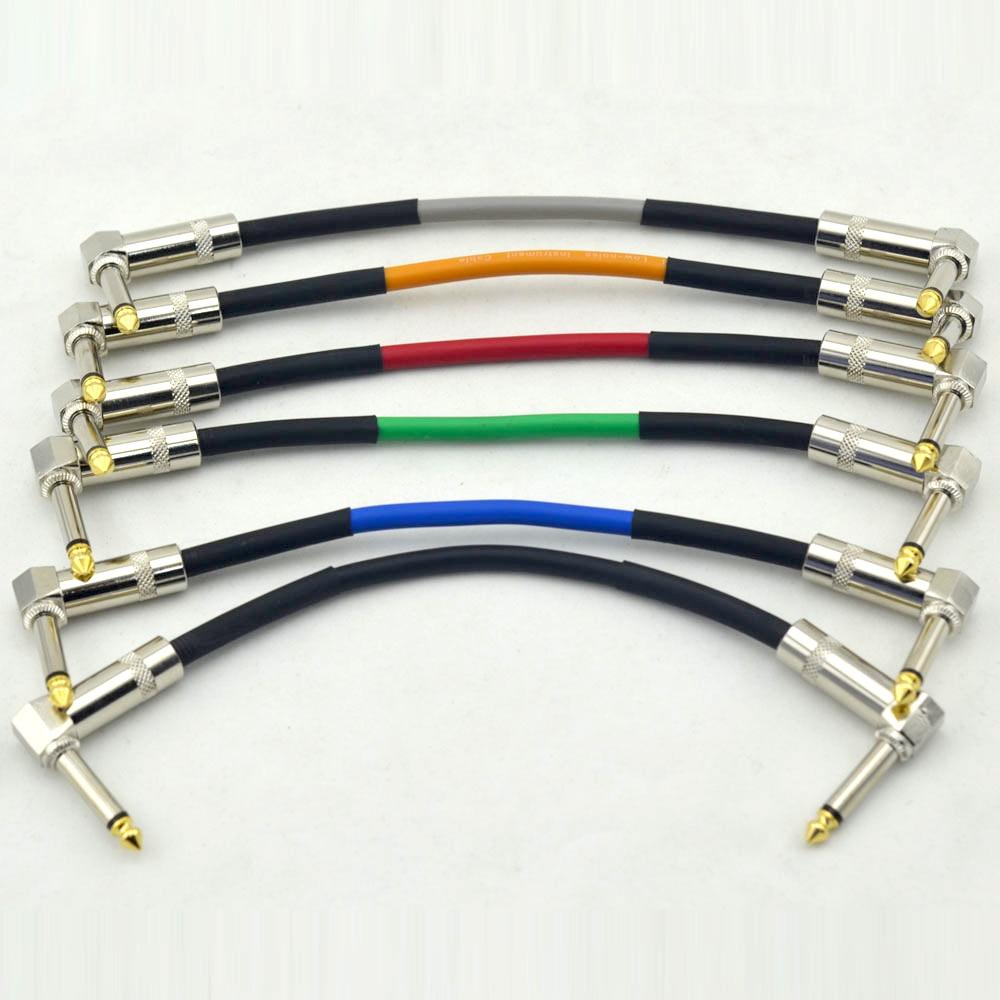 6 buc. Unghi drept 1/4 '' Electric Guitar Effect Pedal Board Patch - Instrumente muzicale