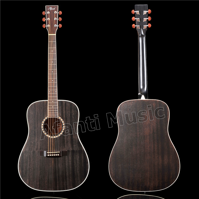 41 inch Acoustic/ Solid Africa Mahogany top / Mahogany back and sides/ AFANTI Acoustic guitar (AFA-918) acoustic metamaterials