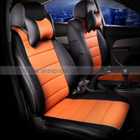 Custom Leather Car Seat Cover Front Back Complete Set Car Cushion Accessories Interior For Ford Focus