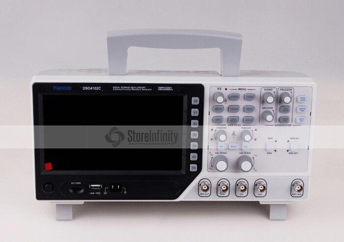 Hantek DSO4102C Digital Multimeter Oscilloscope USB 100MHz 2 Channels LCD Display Osciloscopio Portatil Waveform Generator