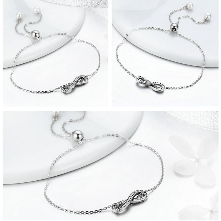 HTB1bh.lof6H8KJjy0Fjq6yXepXaA 925 Sterling Silver Sparkling Tennis Bracelet Chain Strand Bracelets for Women Luxury Original Sterling Silver Jewelry GXB029