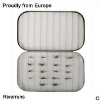 Riverruns 18 Competition Flies Trout UV Flies Nymph Flies With Aluminum Fly Box