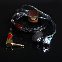 100 Newest FENGRU S1 DIY 150 Ohm Flat Head Plug High Impedance Earphone HiFi Bass Earbuds