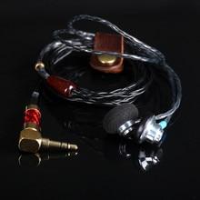 Cheaper 100% Newest FENGRU S1 DIY 150 ohm Flat Head Plug High impedance Earphone HiFi Bass Earbuds DJ Earbuds Heavy Bass Sound Quality