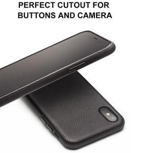 Image 3 - QIALINO Genuine Leather Case Telefone para o iphone Tampa Manga XS Artesanal Moda de Luxo Ultra Fina de Volta para iPhoneXS para 5.8 polegada