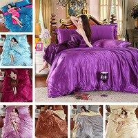 Jednolity kolor Shuangpin Tencel kołdra pokrywa jedwabiu łóżko drukowania i farbowania aktywność czterech kawałek mody Obejmować także Zbiory Miękkie