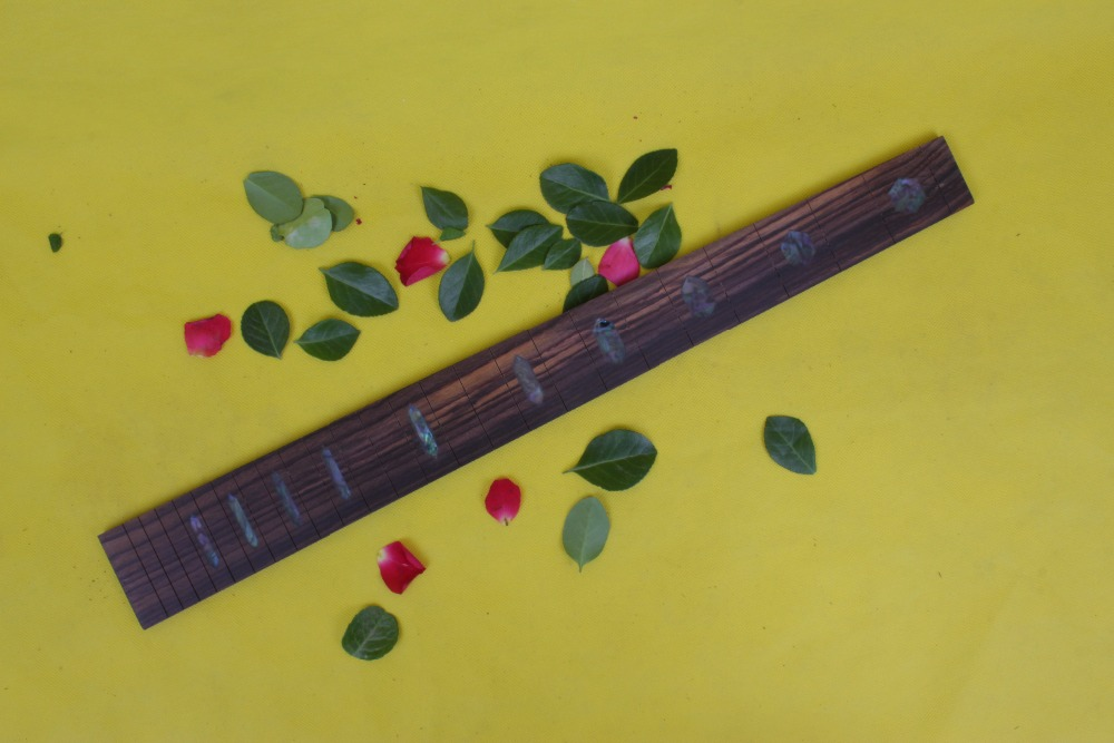 Guitar Accessories 1 x 25.5electric Guitar Fretboard electric guitar ROSE Wood Fretboard Parts 00-37# inlay guitar or bass tree of life fretboard silver color inlay ultra thin sticker