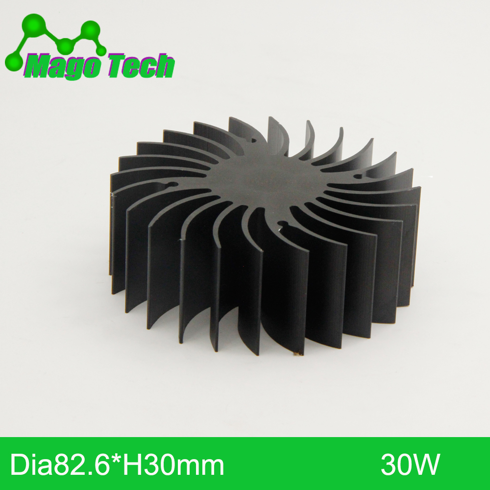 ø82.6*30mm LED Heat Sink Round Sunflower Heat Sink LED Grow Light DIY Light Heatsink 4 Mounting Holes Aluminum Heatsink