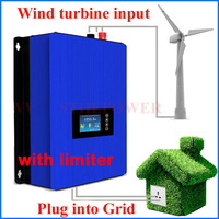 1000W Wind Power Grid Tie Inverter with Dump Load Controller/internal limiter for 24v 48v 60v AC DC wind turbine generator