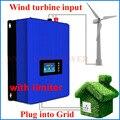 1000 w Vento Power Grid Tie Inverter con Regolatore di Carico del Deposito/limitatore di interno per 24 v 48 v 60 v AC DC generatore di turbina del vento