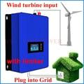 1000 w Wind Power Grid Tie Inverter met Dump Load Controller/interne limiter voor 24 v 48 v 60 v AC DC windturbine generator
