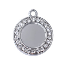 New customizable Crystal Inlay Metal Pendant for Personalized DIY Jewelry Accessories(China)