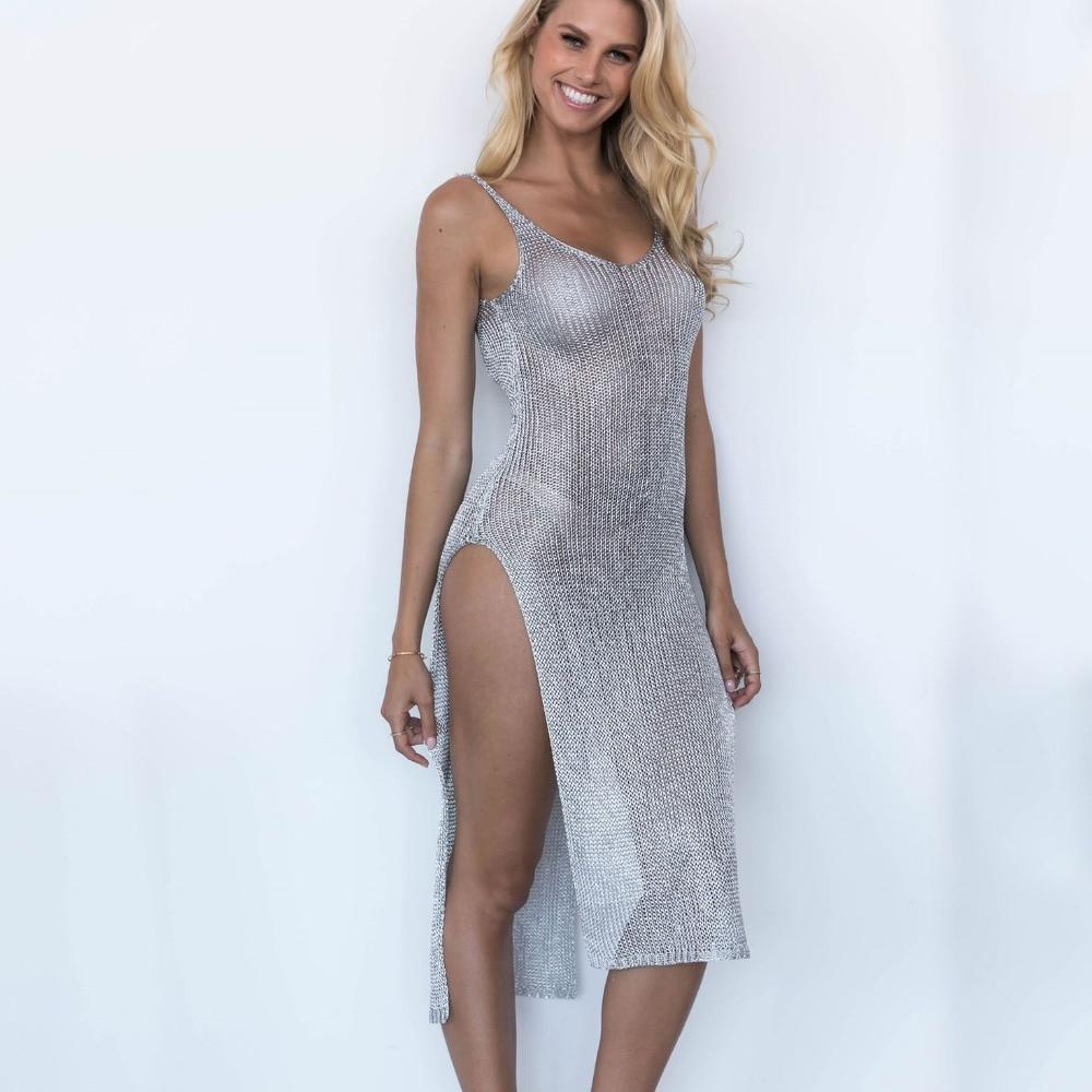 Cover-up Women Sexy Bikini Beach Swimsuit Covers up Swimwear Bathing Suit Summer Beach Wear Mesh Beach Dress Tunic Robe