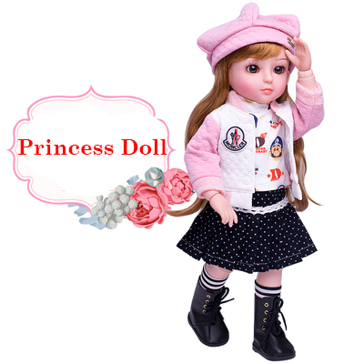 45 CM fille poupée jouets interactif parler poupée jouets reborn poupées brinquedo menina vinyle corps baigner parler et chanter princesse - 3