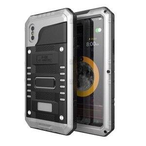 Image 2 - Coque de téléphone étanche en métal résistant aux chocs IP68 pour iPhone X XS XR XS MAX 8 7 6 6 S Plus 5 5 S SE Protection de la vie