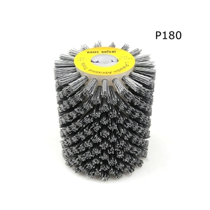 Image 3 - 1 adet 100*120*13mm aşındırıcı tel fırça tekerlek için 9741 tekerlek zımpara P80 P600 ahşap mobilya Metal parlatma taşlama