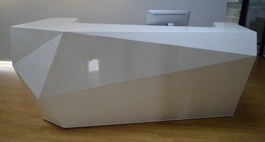 Mesa de mostrador de recepción de madera para área de recepción #2355