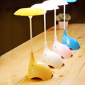 Fashion Lovely Elephant Desk Lamp Bedroom Bedside Lamp Touch Switch Light Cartoon LED Nightlight Rechargeable Lamp