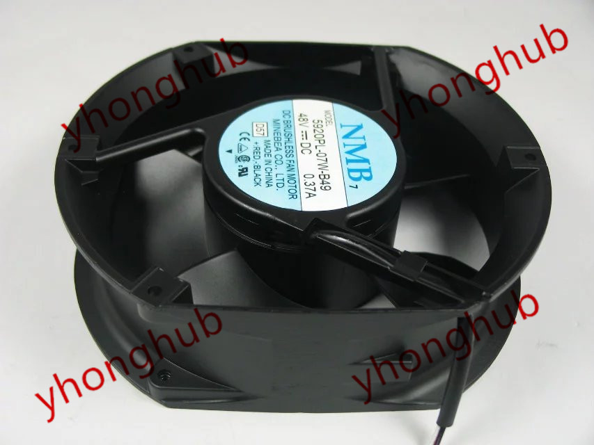 NMB-MAT 5920PL-07W-B49, D57 DC 48V 0.37A, 172x150x51mm  Server Square fan nmb mat 3110kl 04w b49 b02 b01 dc 12v 0 26a 3 wire server square fan