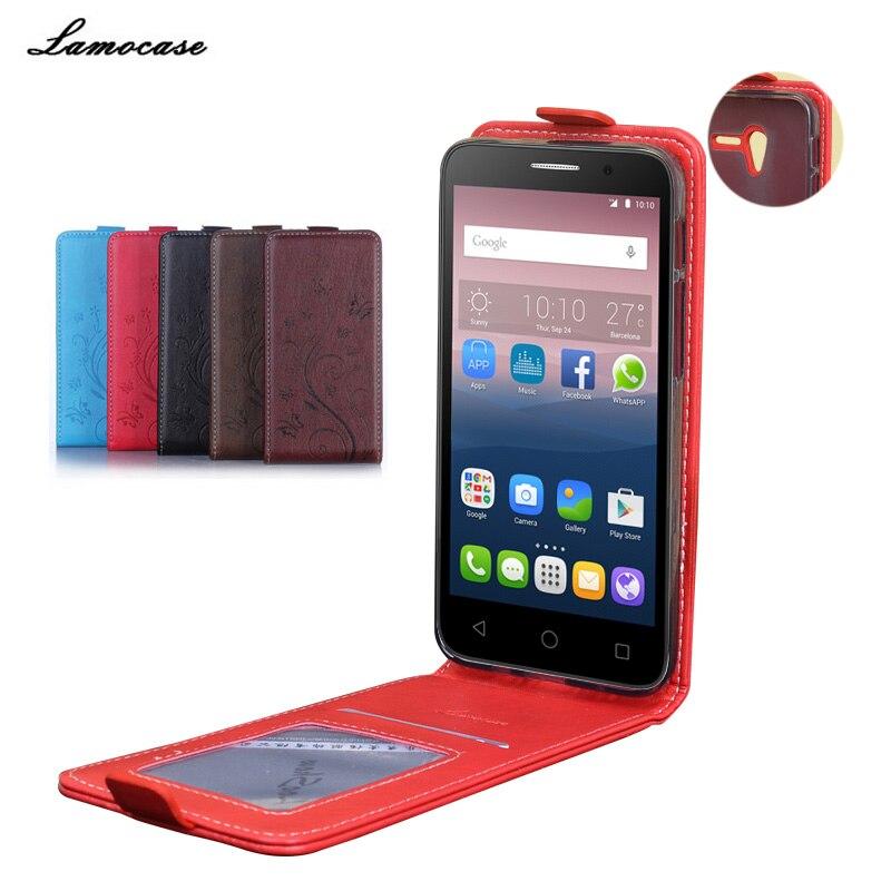 Étui en cuir Pour Alcatel One Touch POP 3 5015D 5.0 Flip Cas de couverture Pour Alcatel OneTouch POP 3 5015X 5025D 5045D 5022D Shell