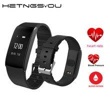 Bluetooth Smart запястье Фитнес браслет с сердечного ритма Приборы для измерения артериального давления кислорода Мониторы Напульсники для IOS телефона android часы