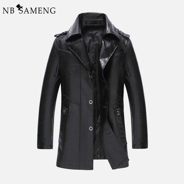2017 New Fashion Men Winter Genuine Leather Jacket Mens Bomber Letter Mens Coat Jackets Veste 13M0668