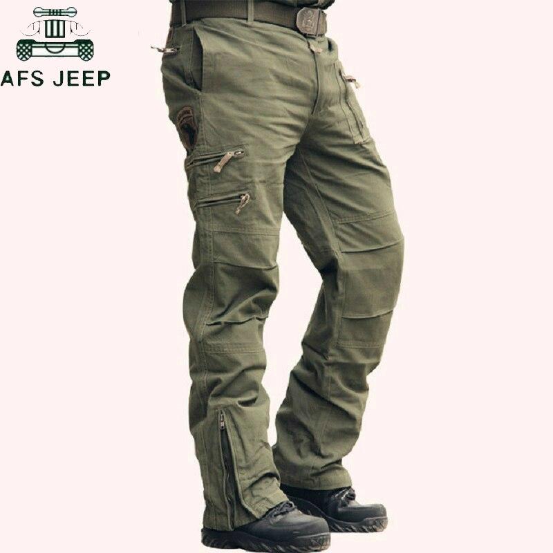 Military Tactical Pants Army Camo Jogger Plus Size Cotton Trousers Hombre Multi-pocket Zipper Camouflage Black Men's Cargo Pants