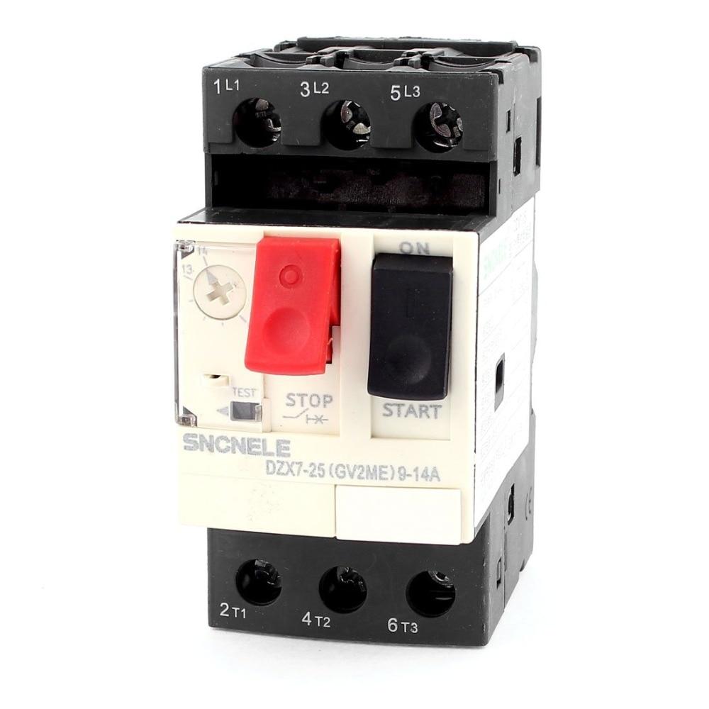 DZX7-25/GV2-ME 9-14A 18A 25A 32A 10A 6A 3P Pole Thermal Magnetic Motor Protection Circuit Breaker MPCB