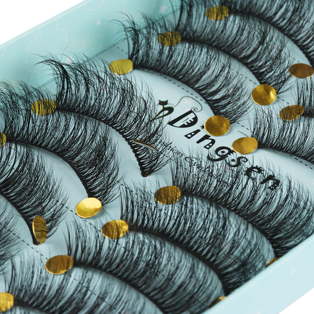 US $1.57 36% OFF|10 Pairs Faux Mink Hair Wispy Mulrilayer False Eyelashes Fluffy Cruelty free Lashes Handmade Cross Long Eyelashes ExtensionTools-in False Eyelashes from Beauty & Health on Aliexpress.com | Alibaba Group