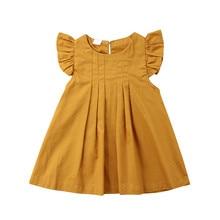 Loose Sleeveless Baby Dress Infant Kids Girl Summer Ruffles