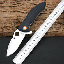 58HRC Folding Knife SPYDER 9CR18MOV Steel Blade G10 Handle Survival Knifes Pocket Hunting Tactical Knives Camping Outdoor Tools