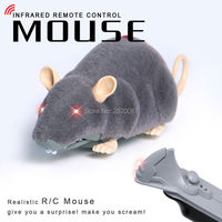 RC Animal Toys Simulation Infrared Remote Control Realistic Plush Mouse Gray Black Family Children S Suprise