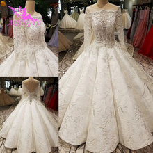 AIJINGYU Wedding Collection White Gowns Beads Turkish Gown Short Front Back Wedding Dress Long Train