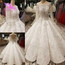 AIJINGYU ชุดแต่งงานสีขาวชุดลูกปัดตุรกีชุดด้านหน้าสั้นกลับงานแต่งงานชุดยาวรถไฟ