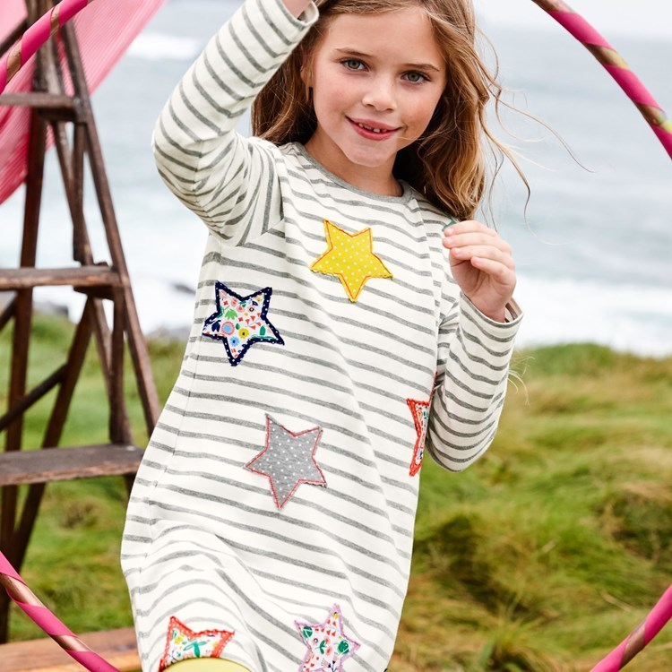 все цены на Littlemandy Girls Dress Stars Printed 2018 Autumn Princess Dresses For Girl Kids Baby Girl Clothes Long Sleeve Baby Girl Clothes