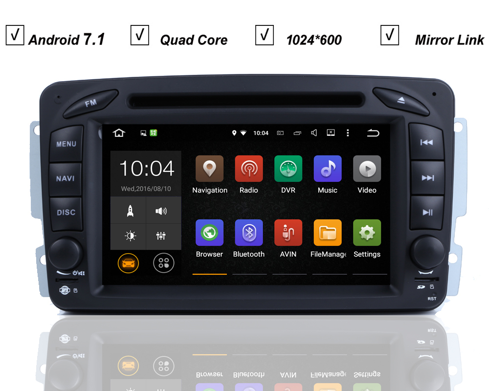 Car dvd gps player for mercedes benz w209 w203 w168 w163 w639 viano vito android 7 1