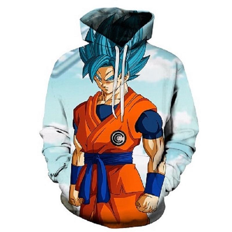 Dragon ball Z hoodie anime men's and women's hooded jerseys 3D pullovers men's sportswear matsuzaka funny cartoon children's wea