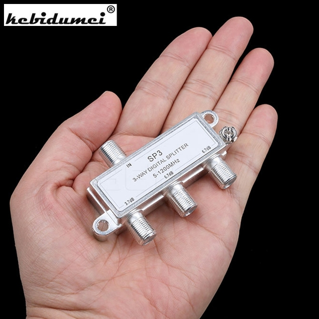 Hot sale 3 Way Digital splitter Signal Aerial Coaxial F Splitter Cable TV Switch 5-1200MHz New arrival