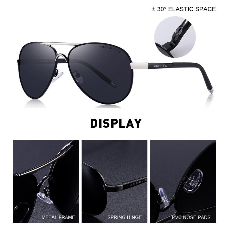 MERRYS Men Classic Pilot Sunglasses HD Polarized Aluminum Driving - Accesorios para la ropa - foto 2