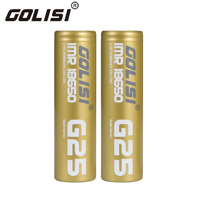 2PCS Li-ion 18650 Rechargeable Battery 3.7V 25A 2500mAh Batteries for E-cig Mods/ Flash Lights/ Toys