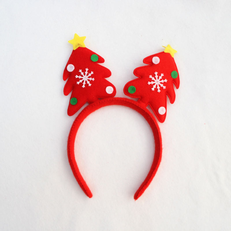 Stylish Christmas Tree Women Girls Cute Headband Hairband Head Band Unique Design Festival Hair Accessories Gift In Headbands From