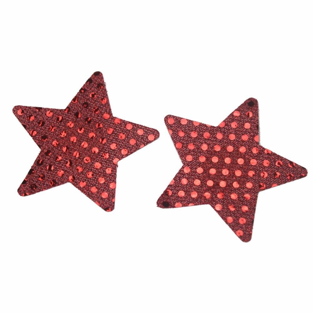 ᗛMujeres Rojas sexy Pezones Tapas estrella adhesivo Pezones Tapas ...